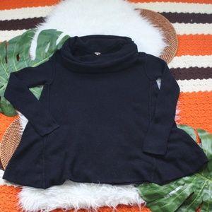 Free People Cowl Neck Sweater Black Size Medium